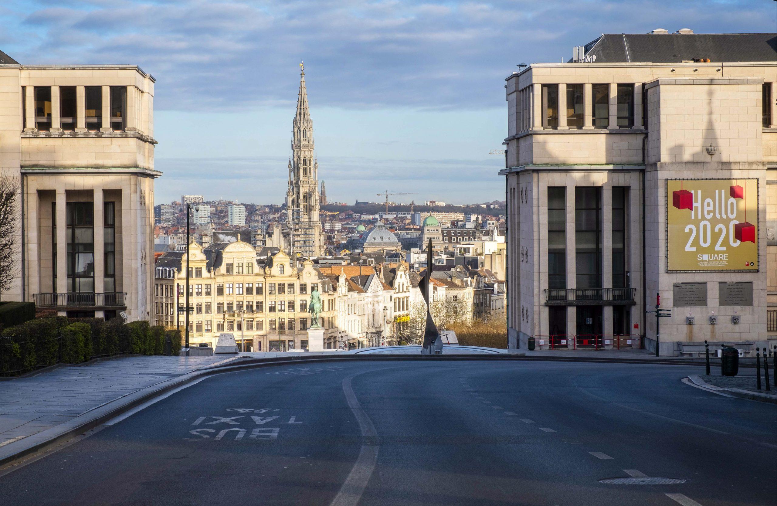 Bruxelles Belgium marts 2020.